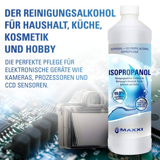 Maxxi Clean Isopropanol IPA Isopropyl 99,9% 1.000ml